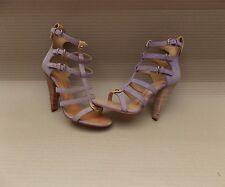 GIUSEPPE ZANOTTI SUEDE CAGE STRAPPY HEELED SANDALS BN 37 4uk SHOES HEELS STRAP