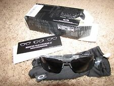 "NEW NIB *OAKLEY* ""Square Wire"" Polished Black/Black Iridium OO4075-01 Sunglasses"