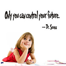 Only You Can Contol Your Future Quote Wall Sticker Inspirational Room Art Decal