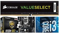 Intel core i3 6100 6th Gen +Gigabyte GA-H110M-S2 motherboard + 8gb DDR4 Ram