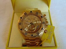 Invicta Reserve 52mm Excursion Touring Edition Swiss 18K IP Gold Chrono SS Watch