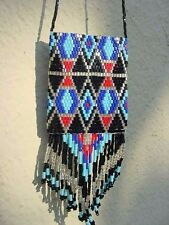 GOOD LUCK AMULET,BEADED SHAMAN POUCH,MEDICINE BAG,PRAYER HOLDER,LUCKY CHARM,BEAD