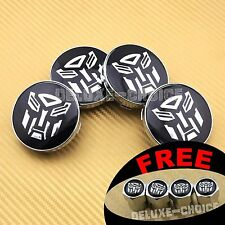 4 pcs TRANSFORMERS WHEEL CENTER CAP HUB 60mm VW AUDI MINI BMW SEAT SKODA HONDA
