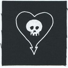 "ALKALINE TRIO heart skull logo CLOTH PATCH **FREE SHIPPING** sew-on 4"" x 4"""