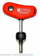 "PB SWISS TOOLS 255 mr-80 T-Grip bitratsche nottolino per bit Ratchet 1/4"" NUOVO"