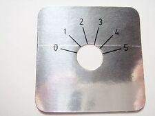 4 Stück Skalenscheibe Skala 0-5 45x45mm #13N68#