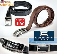 COMFORT CLICK Leather Belt Men Automatic Adjustable Brown As Seen On TV#