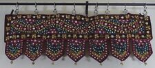 Indian Wall Hanging Ethnic Toran Tapestry Embroidery Sequins Multi
