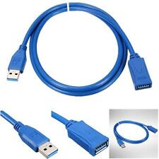 1X 3Ft USB 3.0 Type A Male to Female Extension Extender Cable Cord Adapter Blue