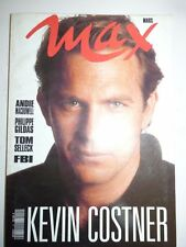 Magazine / revue MAX french #24 mars 1991 Kevin Costner