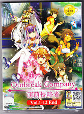 *NEW* OUTBREAK COMPANY *12 EPISODES*ANIME DVD*ENGLISH SUBTITLES*FREE SHIPPING*