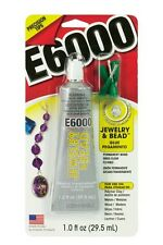E6000 Jewelry & Bead Glue w/tips Adhesive Permanent 1.0 Oz