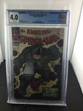 AMAZING SPIDER-MAN 41 CGC 4.0 FIRST APPEARANCE OF THE RHINO