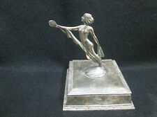 ART DECO NUDE TOP OF SP TRINKET BOX HOLDS MIRROR WEIDLICH BROTHERS MFG.CREATION