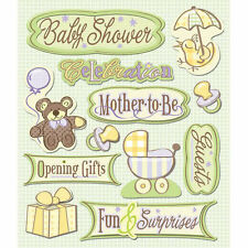 K&COMPANY STICKER MEDLEY BABY SHOWER PREGNANCY DIMENSIONAL 3D SCRAPBOOK STICKERS