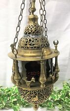 A Beautiful Antique mid 20th century Turkish / Moorish brass hanging lantern