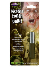 Tooth Paint Colour Stain Make Up Kit Face Horror Halloween Fancy Dress Accessory