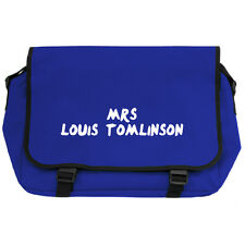 MRS LOUIS TOMLINSON Royal Blue Messenger School Bag directioners fangirl pop NEW