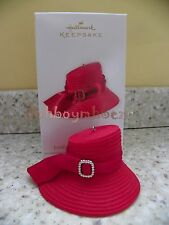 Hallmark 2012 Looking Good for the Lord Red Church Hat Christmas Ornament