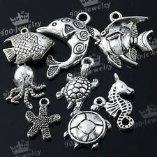 40x Tibetan Silver Sea Animal Charm Pendant Findings For Necklace Bracelet Gift