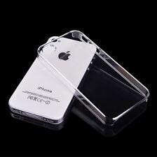 iPhone 4 4S - dünn Cover Hülle Schale Slim bumper Etui Hardcase klar TRANSPARENT