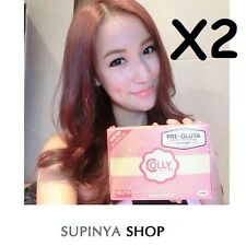 X2 COLLY PINK PRE GLUTA L-GLUTATHIONE WHITENING BRIGHTENING 40 TABLETS+TRACKING