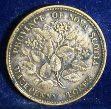 Canada TOKEN  NOVA SCOTIA  Half  Penny 1856