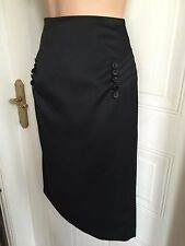 Size 6 Black Pencil Skirt with Fishtail Effect Back Principles Petite BNWOT
