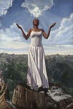 AFRICAN AMERICAN ART PRINT For Every Mountain Kevin A Williams WAK 36x24 Teleky