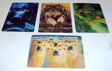3D Wildlife Collector's Cards - Holographic Lenticular Motion ~ PACK OF 24 Cards