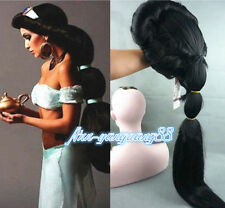 Anime Aladdin Jasmine princess Long Wigs Classic Fancy Party Cosplay + wig cap