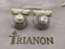 Trianon 18K Seashell Moonstone White Stingray Bar Cufflinks Ret:$3,000 New w/Tag