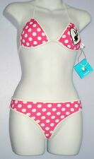SALE-PLAYBOY THONG SWIMSUIT PINK WITH WHITE POLKA DOTS MEDIUM