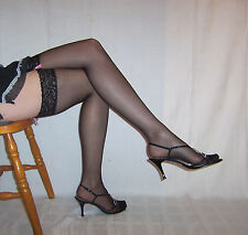 Black Lace Top Stockings