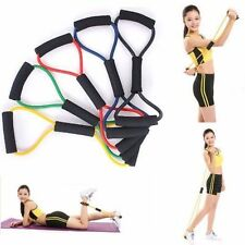 8 Shap Elastic Fitness Yoga Pull Rope Tube Equipment Tools Gym Resistance Bands