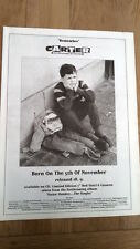 CARTER USM Born On 5th November UK Poster size Press ADVERT 16x12 inches
