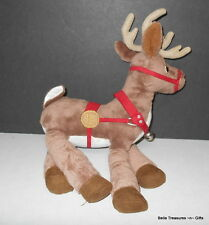 Hallmark Warner Brothers Polar Express PE Reindeer stuffed Plush Christmas Toy