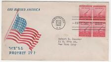 US FDC 1940 2-cent Defense Stamp Minkus Patriotic Cover Neatly Addressed! |