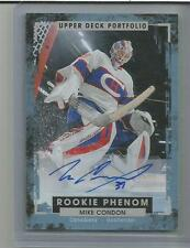 2015-16 UD Portfolio #240 Rookie Phenom Auto Mike Condon Montreal Canadiens