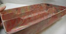 GOTHAMWARE MARBLED UTENSIL/FLATWARE HOLDER FOUR COMPARTMENT TEXASWARE STYLE