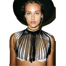 Choker Necklace Pendant Jewelry Chain Bib Statement Fashion Chunky Charm Crystal