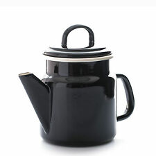 Dexam Vintage Home Black Coffee Pot Teapot Tea Pot 1.2L Enamel Kitchen Caravan