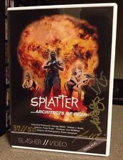 OOP Splatter Architects Of Fear Slasher // Video DVD SOV DOC Autographed 37-50