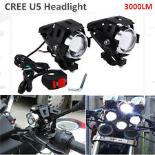 2x 125W 3000LM haute puissance Cree U5 Led moto phare antibrouillard Spot volant