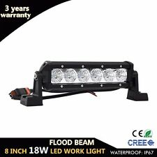 8inch 18W Cree LED Work Light Bar Car Offroad 4X4 SUV 4WD ATV Truck Driving Lamp