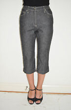 Vintage 90's Dolce & Gabbana Black Denim Capri Jeans Pants Euro 40 US 4 to 6