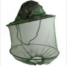 Mosquito Fly Insect Bee Fishing Mask Face Protect Hat Net Camouflage 5HK