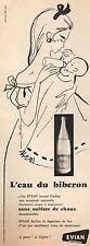 ▬► PUBLICITE ADVERTISING AD EVIAN Eau minérale naurelle 1958