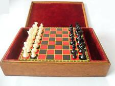 ideal gift japan Chess set in wood box vintage retro antique
