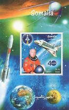 NASA descubrimiento Sputnik Viajes Espaciales Astronautas Somalia 1999 Mnh Hoja De Sellos
